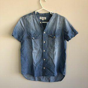 Madewell Perfect Chambray Sunday Shirt Size XS